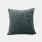Pure Color Plush Geometric Pineapple Grid Sofa Pillow Living Room Bedside Pillowcase - Blue
