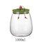 Cork Transparent Glass Tea Cans Sealed Fower Tea Pots Candy Food Grain Storage Tanks - Green