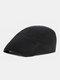 पुरुषों और महिलाओं के ठोस रंग आकस्मिक आउटडोर आगे टोपी फ्लैट टोपी टोपी टोपी - काली