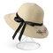 Женское Лук складной солнцезащитный крем ведро соломы Шапка На открытом воздухе Повседневные путешествия Пляжный Море Шапка