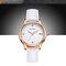 Trendy Quarz Uhren runden Zifferblatt Blume Ziffer einfachen Lederband Uhren für Frauen
