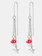 Bohemian Mushroom Star Earrings Temperament Alloy Hollow Earrings - Silver