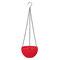 樹脂吊りフラワーポットガーデニングプラントポットフックガーデンプランターバスケットバルコニーの装飾 - 赤