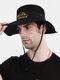 Unisex Outdoor Solid Climbing Fishing Sunshade Adjustable Side Buckle Bucket Hat - Black