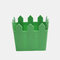 Maceta de madera para flores, decoración de jardinería, maceta para plantas suculentas  - Verde