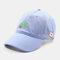 Men & Women Embroidered Apple Pattern Embroidered Letter Baseball Cap - Blue
