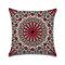 <US Instock> Mandala Indian Bohemian Cotton Linen Cushion Cover Home Decor Square Pillowcase - #01