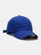 Coton unisexe trous cassés mode chapeau de baseball pare-soleil extérieur - bleu