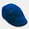 Mens Breathable Painter Beret Caps Casual Outdoor Visor Forward Hat - Blue