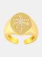 الزركون أشابة خواتم الخاتم النحاسي وجوز الهند القابلة للتعديل - ذهب (قطعة من الجبن)