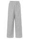Pliad Print Elastic Waist Loose Plus Size Pants - Grey