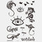 Halloween Face Temporary Tattoo Stickers Waterproof Sweatproof Breathable Art Body Fake Tattoo Transfer Paper - 06