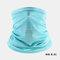 Ice Silk Sunscreen Turban Triangle Scarf Breathable Sunscreen Riding Mask - Blue