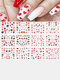 12 Pcs Nail Art Stickers Love Letter Flower Sliders Nail Art Decoration Valentine's Day Transfer Stickers - #02