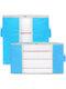 2 piezas de almacenamiento de edredón no tejido Bolsa ropa para el hogar edredón almohada manta de almacenamiento Bolsa transparente grueso resistente al desgaste - azul