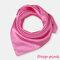 Square Plain Scarf Silk Headband Small Neckerchief Head Neck Lady Women Scarves - Pink 1
