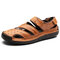 Large Size Men Hand Stitching Leather Breathable Non-slip Soft Casual Sandals