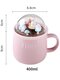 Lovely Cute Micro Landscape Ceramic Cup Creative Christmas Gift Ceramic Coffee Mug