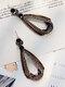 Vintage Alloy Elegant Drop-shape Earrings - Black