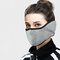 Men Women Winter Warm Cold Dustproof Breathable Warm Ears Outdoor Cycling Ski Travel Mouth Mask - Grey