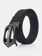 Men Nylon 120cm Automatic Buckle Tactical Outdoor Business Jeans Belt - Black