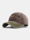 Men Washed Cotton Letter Pattern Patch Baseball Cap Outdoor Sunshade Adjustable Hats - #05