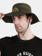Unisex Outdoor Solid Climbing Fishing Sunshade Adjustable Side Buckle Bucket Hat - Green