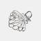 幾何学的な金属の髪の爪半円の月の形のヘアクリップ爪マットヘアピンヘアアクセサリー  - 3