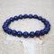 Bohemian Multicolor Crystal Beaded Bracelets Amethyst Elastic Rope Tassel Pendant Women Jewelry - #09
