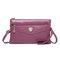 Portefeuille solide pour sacs à bandoulière multifonctionnel décontracté pour femme en cuir PU