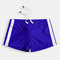 Mens Swimwear Side Stripe Design Padded Swim Shorts Drawstring Quick Dry Nylon Swim Trunks
