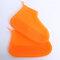 Women Waterproof Dustproof Shoes Protector Transparent Latex Non Slip Foot Cover  - Orange
