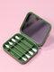 Biologisch abbaubares Silikon-Wattestäbchen mit wiederverwendbarem Spiegel-Ohrreinigungs-Make-up-Wattestäbchen - Grün