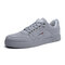 Men Fabric Comfy Breathable Lace Up Casual Trainers Sneakers - Gray