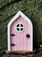 1 PC Wooden Handmade Multicolor Cute Miniature Fairy Gnome Dwarf Gate Landscaping Yard Garden Tree Decor Ornament - #02