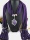 Bohemian Irregular Resin Accessories Alloy Base Women Tassel Pendant Scarf Necklace - #02