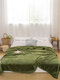 Thick Flannel Small Woolen Blanket Sofa Blanket Double Napping Blanket Air Conditioning Blanket - Green