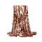 Sciarpa di leopardo con cuciture lunghe da donna Sciarpe di cotone e lino stampate a doppio uso