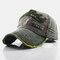 Baseball Cap Retro Sun Hat Embroidery Hats - Army Green