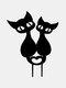 1PC 革新的なアクリルシミュレーション漫画猫屋外の庭の装飾挿入カードアート中空装飾工芸品家の庭の装飾品 - #01