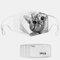 Cat Pattern Polyester Fashion Dustproof Mask With 7 Mask Gaskets - #02