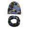 Cool Boy Print Sombrero Set de bufanda para 0-4 años - 6