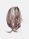 8 цветов Нерегулярный хвостик клипса Волосы Удлинения короткие вьющиеся Парик шт. - #04