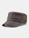 Men Short Brim Solid Color With Mesh Breathable Quick-Drying Military Hat - Dark Grey