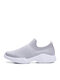 Women Comfy Breathable Elastic Knitted Fabric Running Shoes Flat Sock Sneakers - Gray