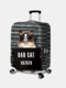 Women Cat Print Luggage Case Wear-resistant Travel Luggage Protective Cover - #02
