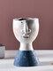 1PC Art Portrait Flower Pot Vase Sculpture Resin Human Face Family Flower Pot Handmade Garden Storage Flower Arrangement Home Decors - Boy-1