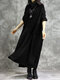 Solid Color Plush Patchwork Turtleneck Long Sleeve Dress - Black