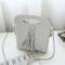 Women Mini PU Crossbody Bags Tassel Phone Bags - Grey