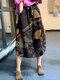 Ethnic Pattern Print Drawstring Waist Vintage Front Pocket Skirts - #10